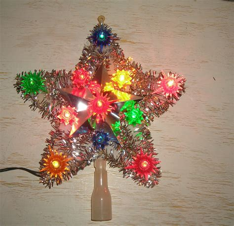 christmas tree top star light lighted tree topper retro