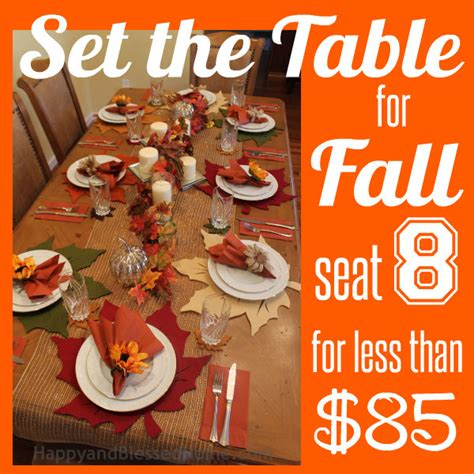 How To Decorate My Home For Christmas fall table setting seat 8 for less than 85