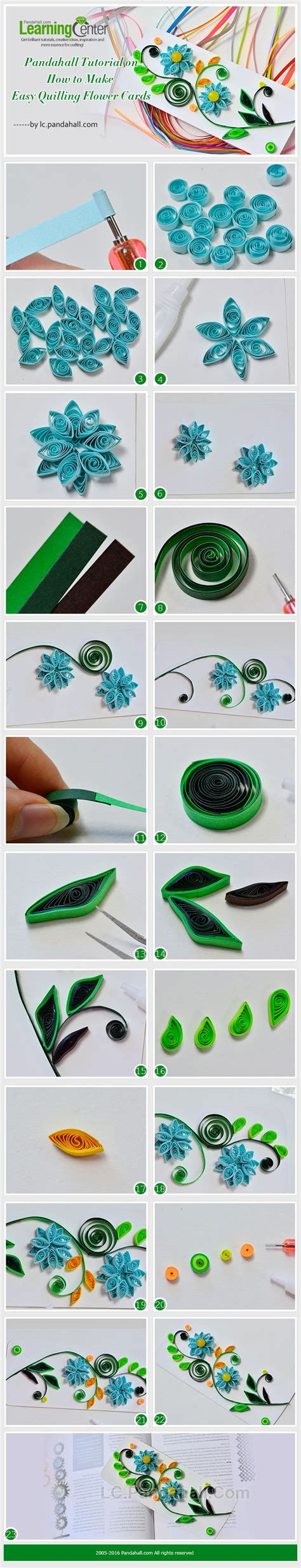 quilling easy tutorial tutorial on how to make easy quilling flower cards from lc