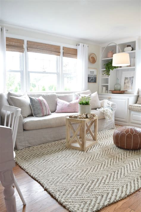 pictures of rugs in living rooms jute rug review in our living room nesting with grace