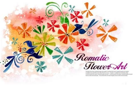watercolor pattern psd flower art watercolor pattern background psd layered 6