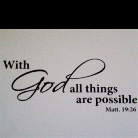 all things are possible with god ideas