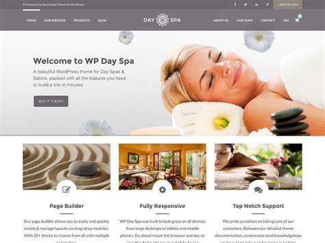 spa website inspiration 45 best spa beauty hair salon wordpress themes 2018