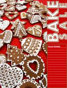 Christmas cookie bake sale flyer bake sale flyers free flyer
