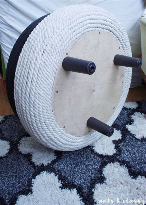 diy chic storage ottoman project tutorial tire upcycle   tutorials muebles