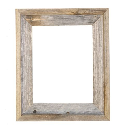 wood frame 11x14 2 wide barnwood reclaimed wood open frame no