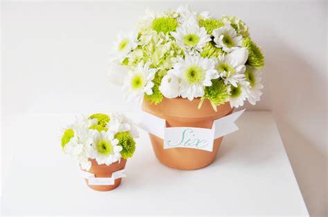 wedding flower pot centerpiece ideas diy flower pot favors and centerpieces project wedding
