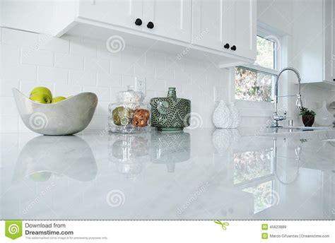 Beadboard Backsplash Kitchen kitchen counter stock photo image 45623889