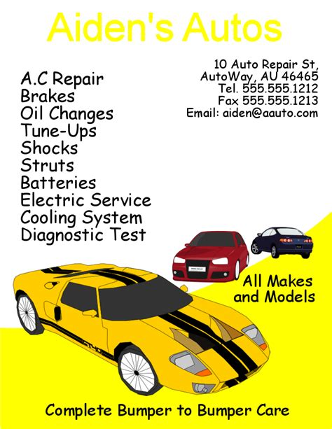 Automotive Flyer Templates Free