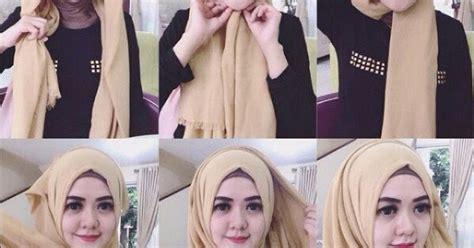 tutorial segi empat kekinian cara menggunakan hijab segi empat untuk til kekinian
