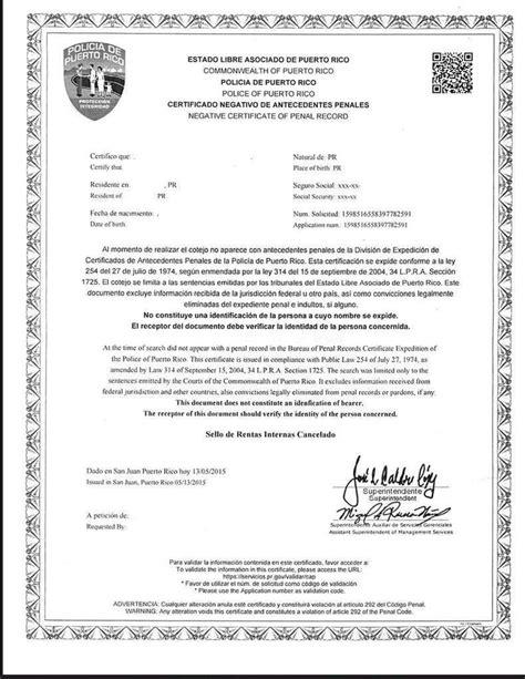 carta de buena conducta pr polic 237 a puerto rico on twitter quot con el nuevo certificado