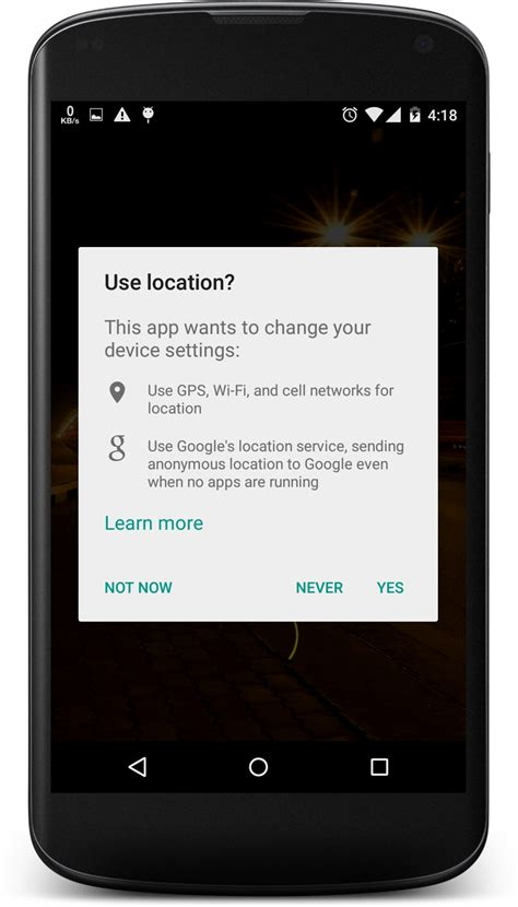 newest android software use location popup in some new android apps stack overflow