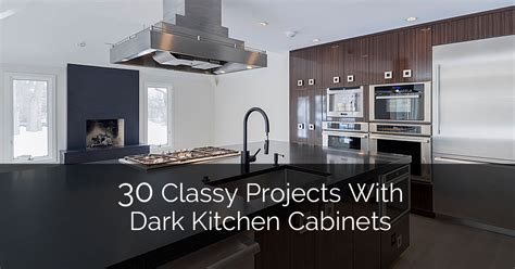 30 Classy Projects With Dark Kitchen Cabinets Home | 30 classy projects with dark kitchen cabinets home