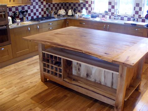 kitchen island oak scottish oak kitchen island tailor made furniture joiner and cabinet maker falkirk
