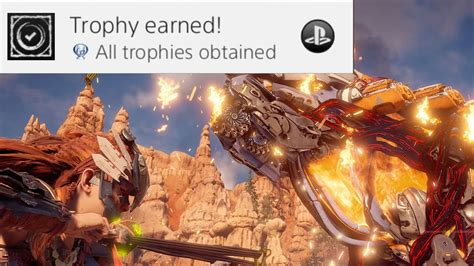 ps4 themes corrupted horizon zero dawn gameplay getting the platinum trophy