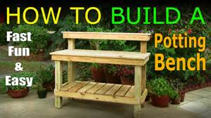 Potters Bench Plans Diy How To Build A Potting Bench Work Bench Official