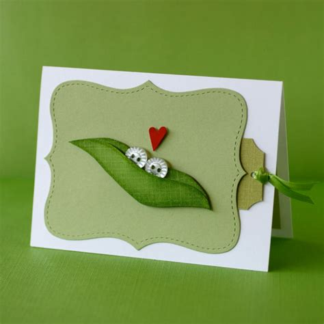 Pea In The Pod Gift Card - adorable custom two peas in a pod greeting card by pretty paper party catch my party