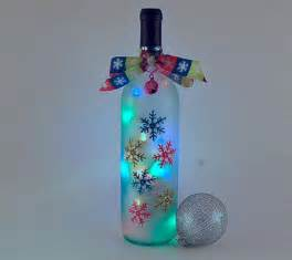 bing wine bottle crafts with lights christmas