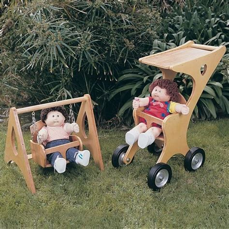 swing stroller woodworking project paper plan to build doll stroller