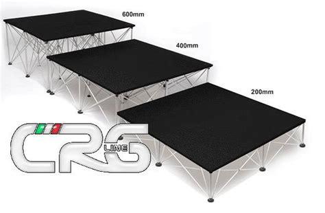 pedane palco palco modulare ragno a traliccio pedana 2x1 gambe