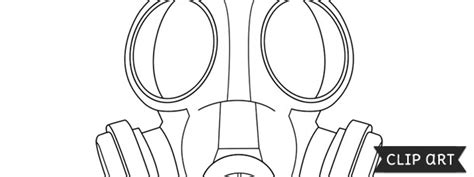 gas mask template clipart