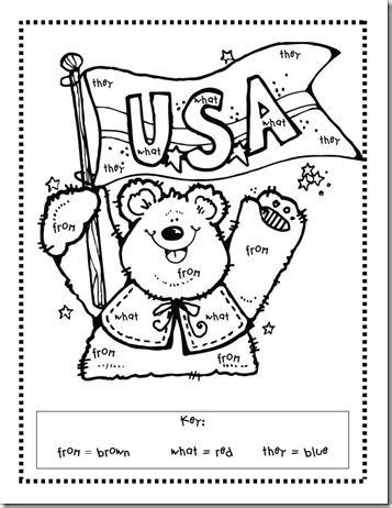 presidents day coloring pages preschool president s day color by sight word