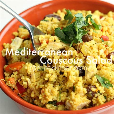 Mediterranean Couscous Salad - Real Life Dinner ...