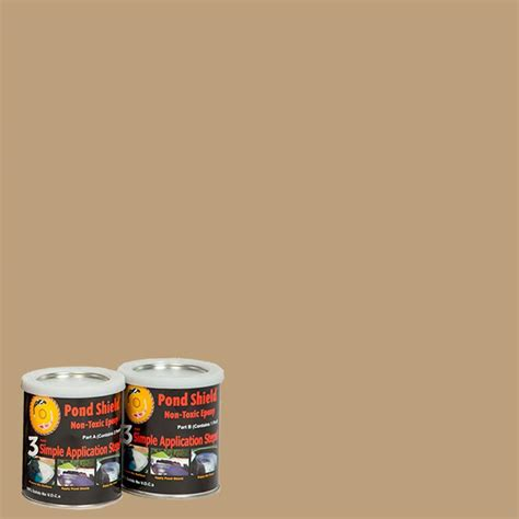 rust oleum epoxyshield 2 gal tan garage floor epoxy 261846 the home depot