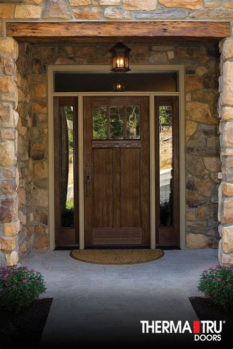 Exterior Doors Therma Tru Therma Tru Classic Craft American Style Collection Fiberglass Door With Low E Glass Simulated