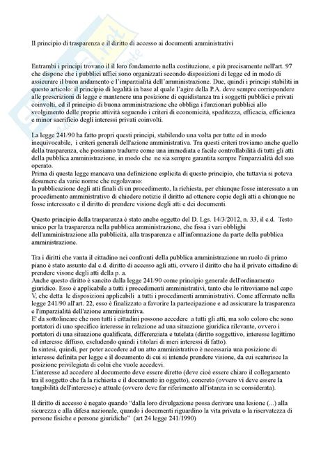 dispensa di diritto amministrativo diritto amministrativo il diritto di accesso agli atti