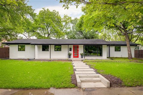 mid century modern ranch painted brick ranch exterior midcentury with curb appeal