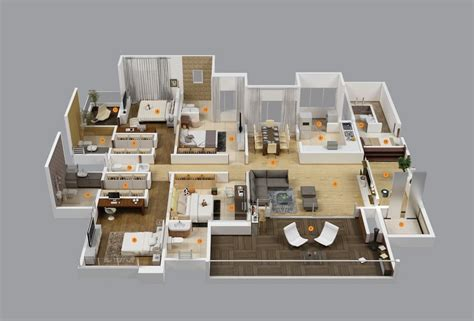 home design for 4 room 50 four 4 bedroom apartment house plans architecture design
