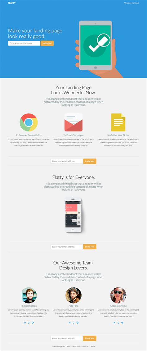 bootstrap themes landing flatty free bootstrap app landing page gridgum