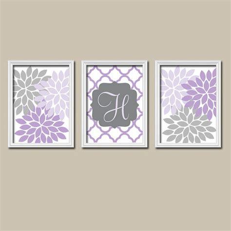 gray wall decor purple lilac gray nursery wall art canvas or prints