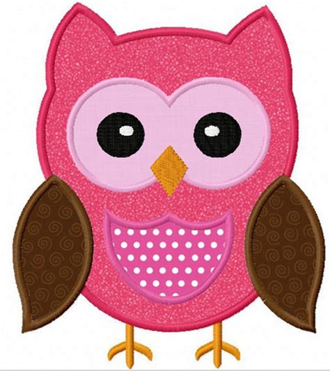 Owl Applique Template by Instant Owl Applique Machine Embroidery Design