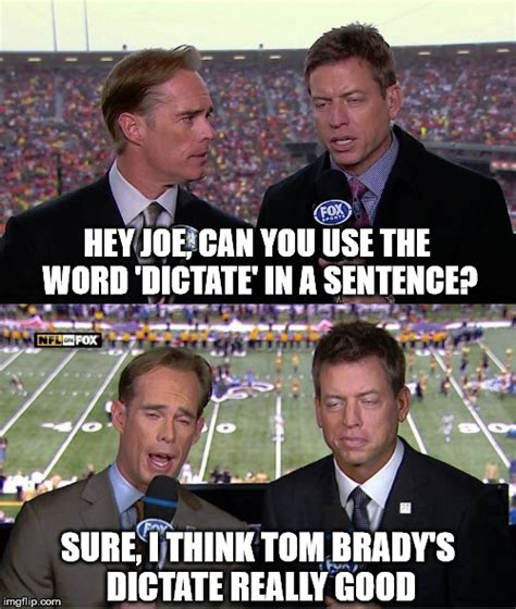 Joe Buck Meme - image tagged in funny memes joe buck troy aikman nfl tom