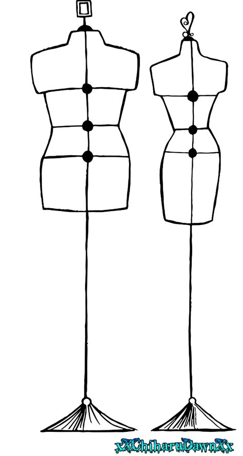 Mannequin Outline by Mannequin Templates Sketch Templates