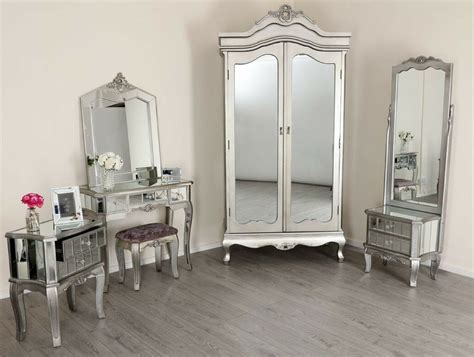 mirrored silver french style mirror gold shabby chic antique bedroom furniture ebay