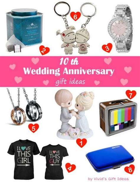 Gift Ideas 10 Year - traditional modern 10 year wedding anniversary gifts