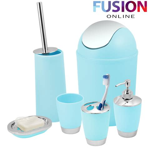bathroom toothbrush holder set bathroom set 6 piece accessory bin soap dish dispenser