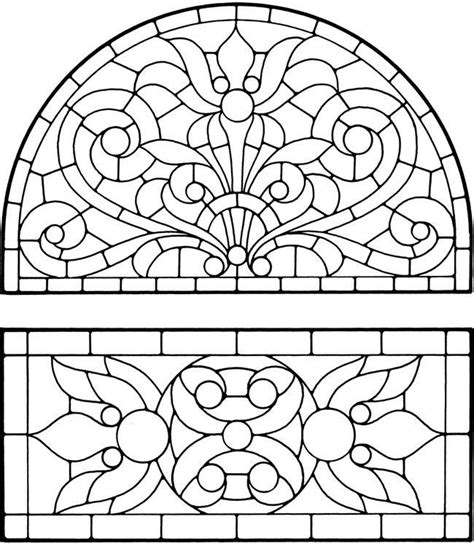 stained glass window coloring pages coloring home