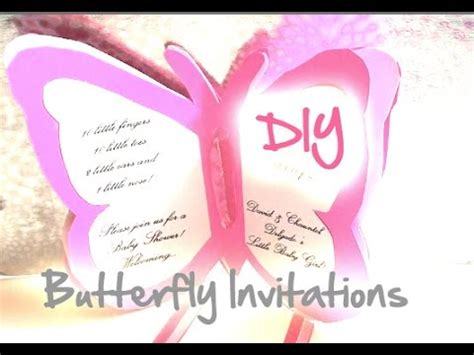 Baby Shower Butterfly Invitations For Cheap by Diy Baby Shower Wedding Butterfly Invitations