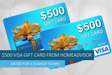 Get Visa Gift Card - win a 500 visa gift card from homeadvisor digital trends