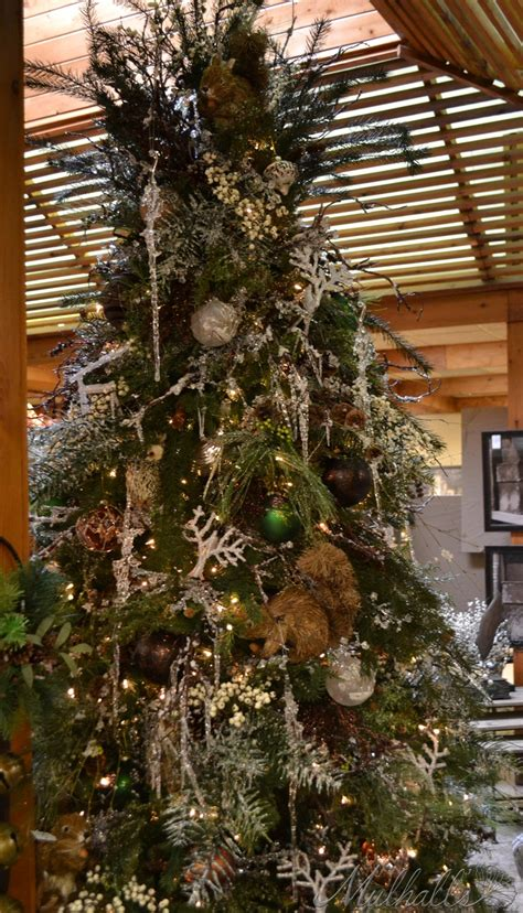 nature themed christmas tree tree ideas pinterest
