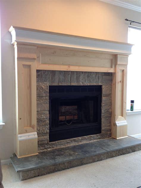 how to make a fireplace hearth diy fireplace mantel redo diyaffair