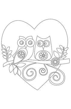 owl heart coloring page 1000 images about coloring pages on pinterest coloring