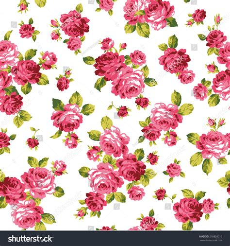 rose pattern clipart pattern rose stock vector 218838010 shutterstock