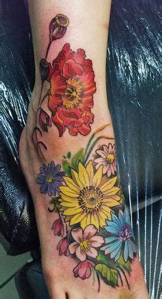 flower garden tattoos foot tattoos on 178 pins
