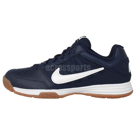 Ardiles Federer White Navy Badminton Shoes nike court shuttle v 5 navy white gum 2015 mens badminton shoes ebay