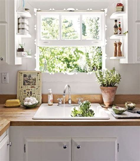 Small Kitchen Window Curtains Decorating 105 Best Small Kitchen Windows Images On Pinterest Kitchen Windows Baking Center And Home Ideas